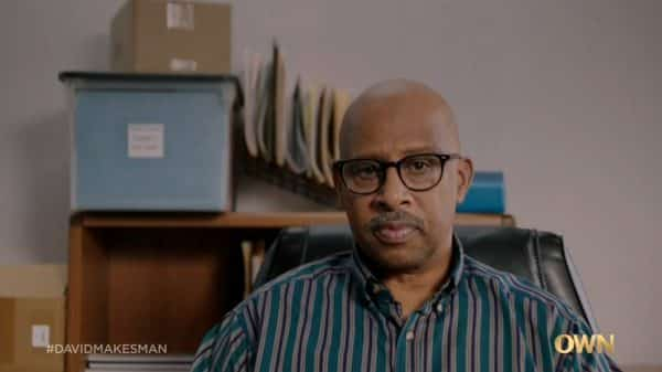 Dr. Bree (Ruben Santiago-Hudson) while talking to David.