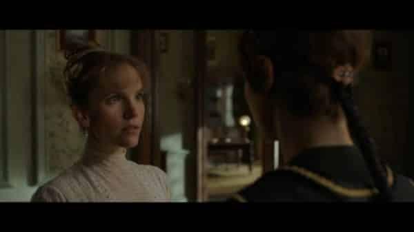 Imogen (Tamzin Merchant) looking at Vignette.