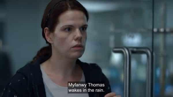 Josie (Rosie Sansom) revealing Myfanwy's future.