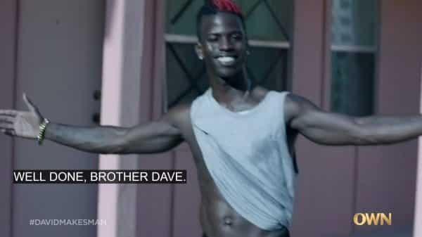 Raynan (Ade Chike Torbert) praising David.