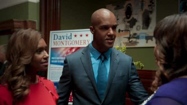 David (Mark Tallman) is Ari's husband who is running for state senator in New York.