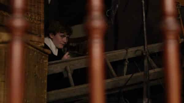 Young Matthew Cuthbert (Gabriel Grennan) hiding away from people.