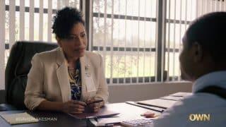 Principal Fallow (Liza Colon-Zayas) checking in on David.