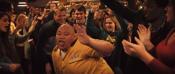 Jacob Batalon getting down during a party.