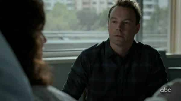 Jonas (Mark Hildreth) talking to his wife.
