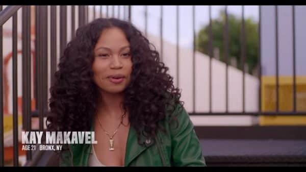 Kay Makavel being interviewed.