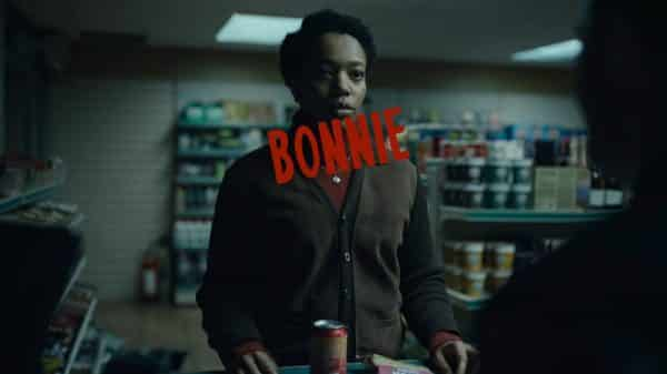 Bonnie (Naomi Ackie) being introduced, and buying a possible murder weapon.
