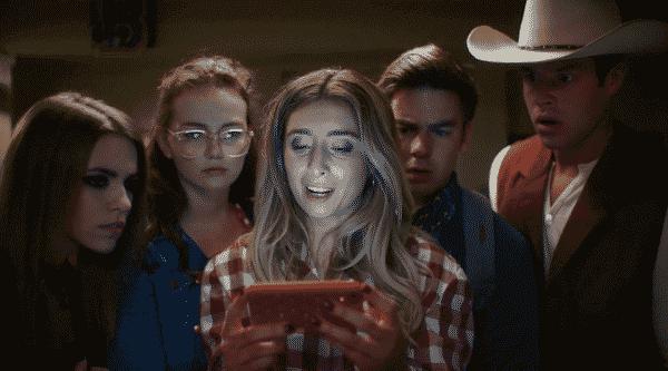 Elektra (Anymarie Gartner), Holly (Andi Matichack), Stephanie (Lauren Elizabeth), Teddy (Cody Ko), and Chuck (Kyle Jones) in The Boonies.