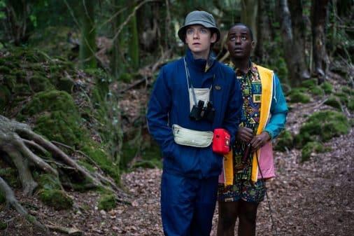 Otis (Asa Butterfield) & Eric (Ncuti Gatwa) in the woods.
