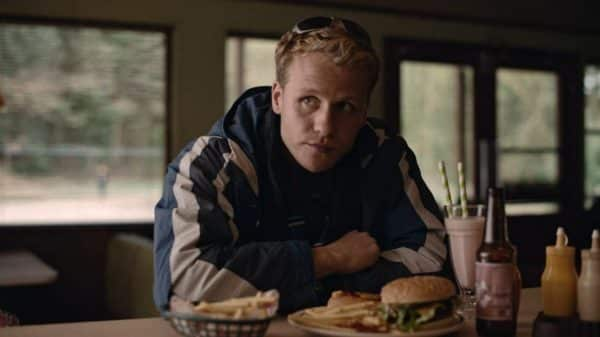 Todd (Josh Dylan) at Leigh's counter.
