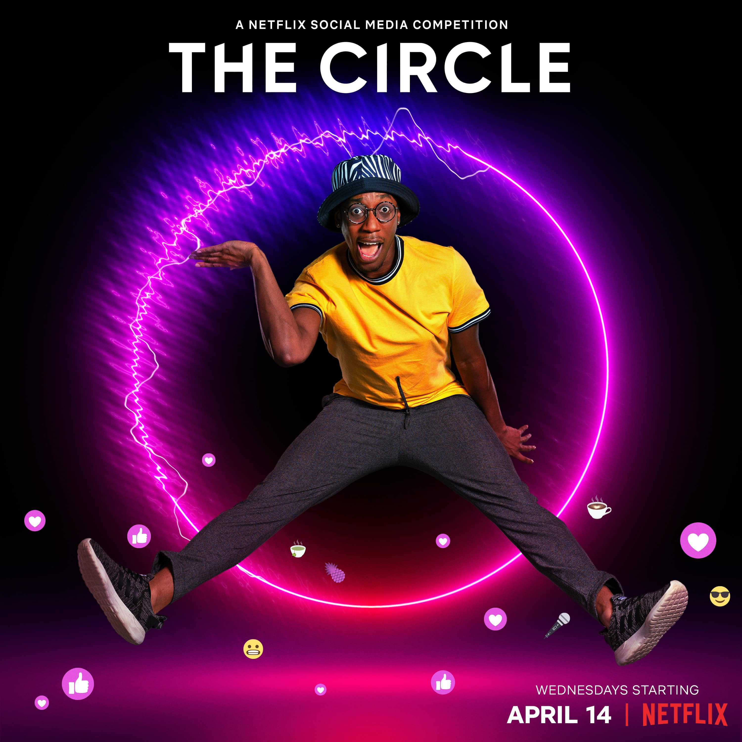 Courtney in promotional material for The Circle Season 2