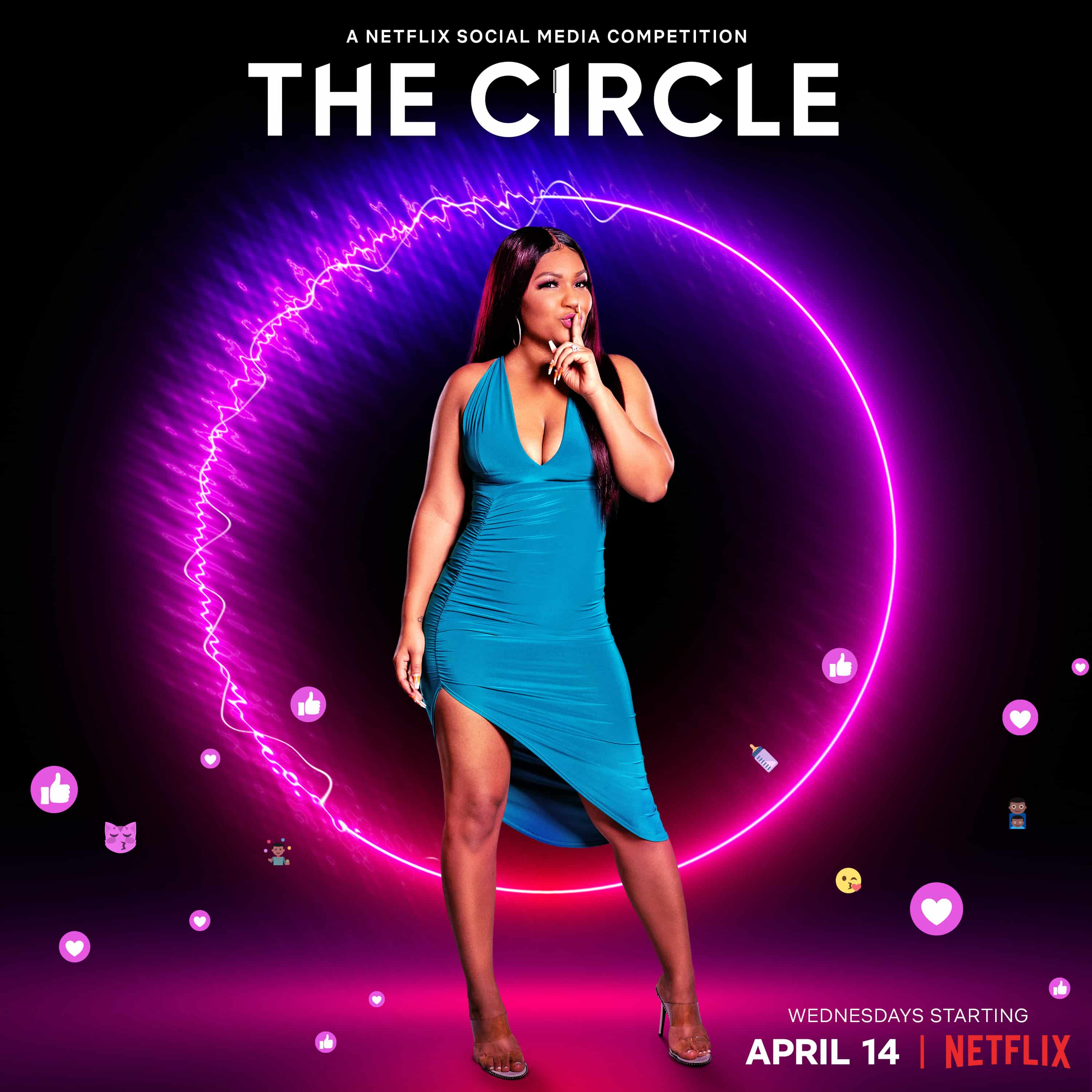 Deleesa in promotional material for The Circle Season 2