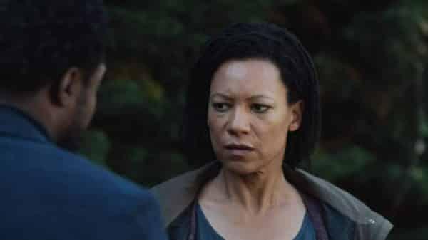 Elaine (Nina Sosanya) talking to Boreal.
