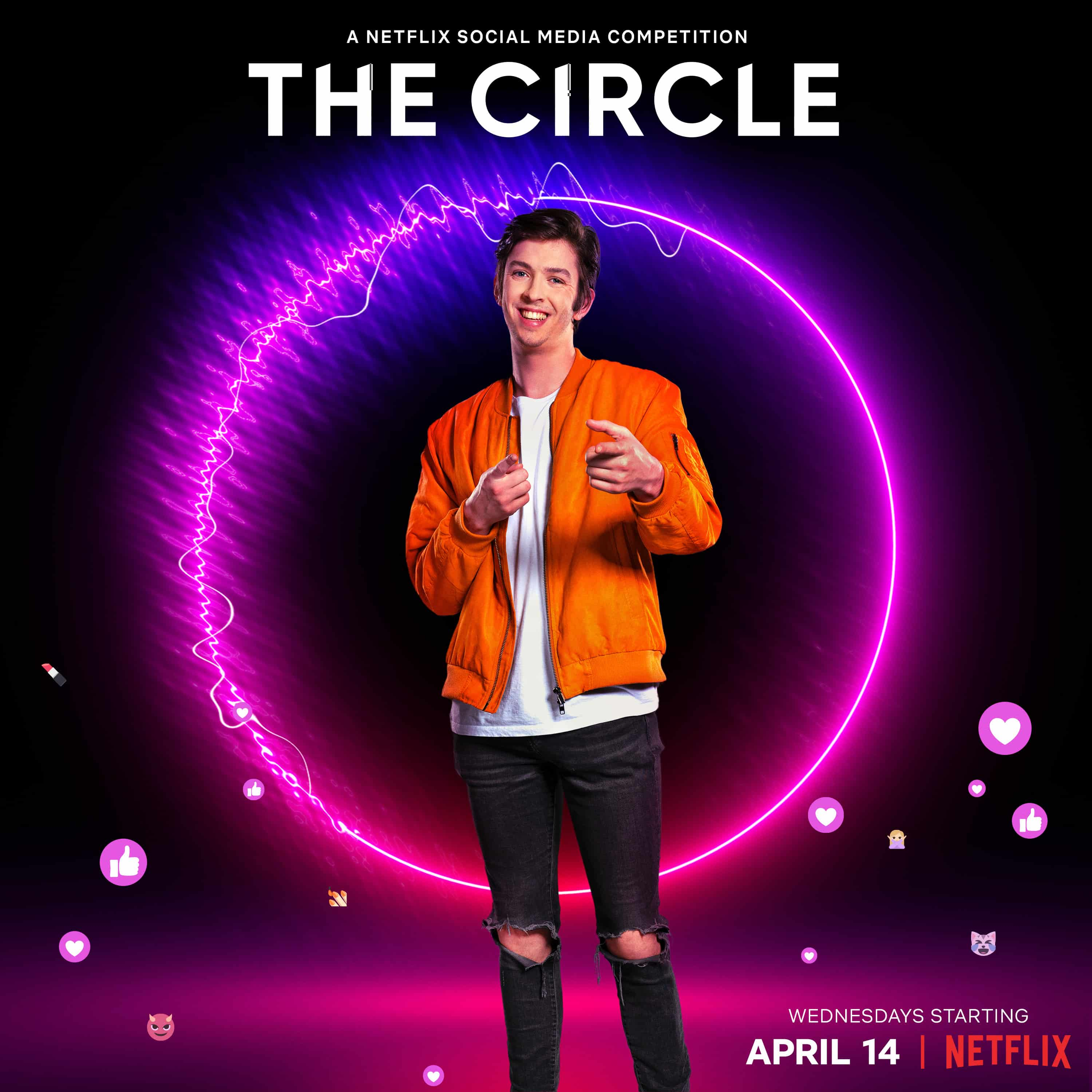 Jack in promotional material for The Circle Season 2