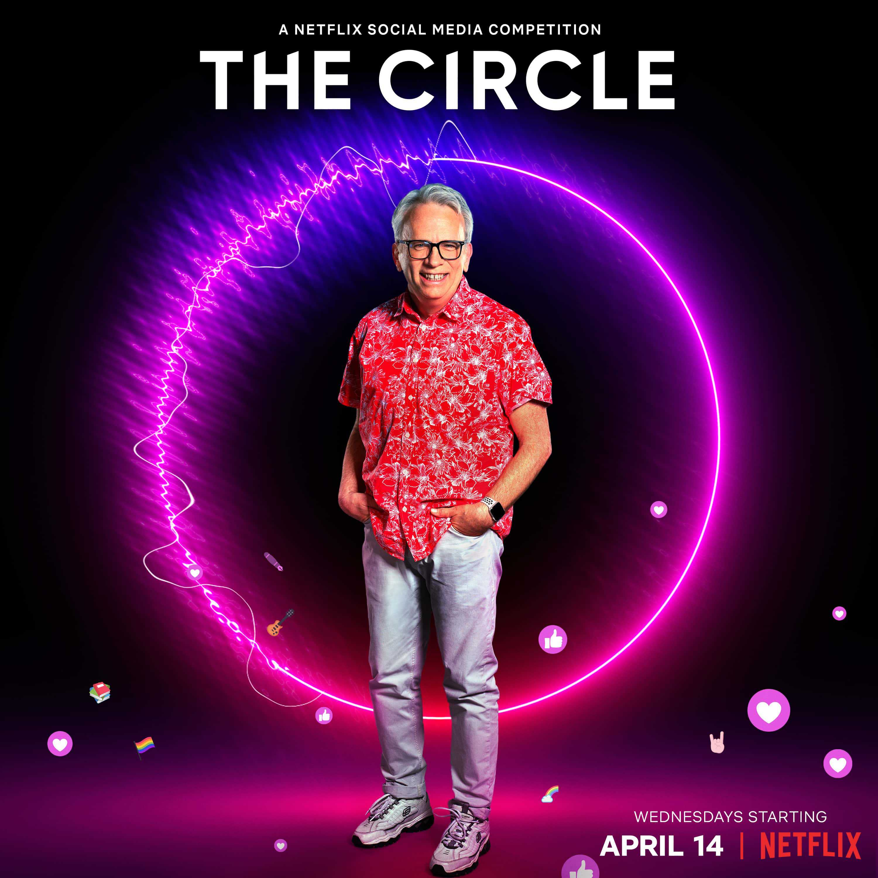 Lee in promotional material for The Circle Season 2