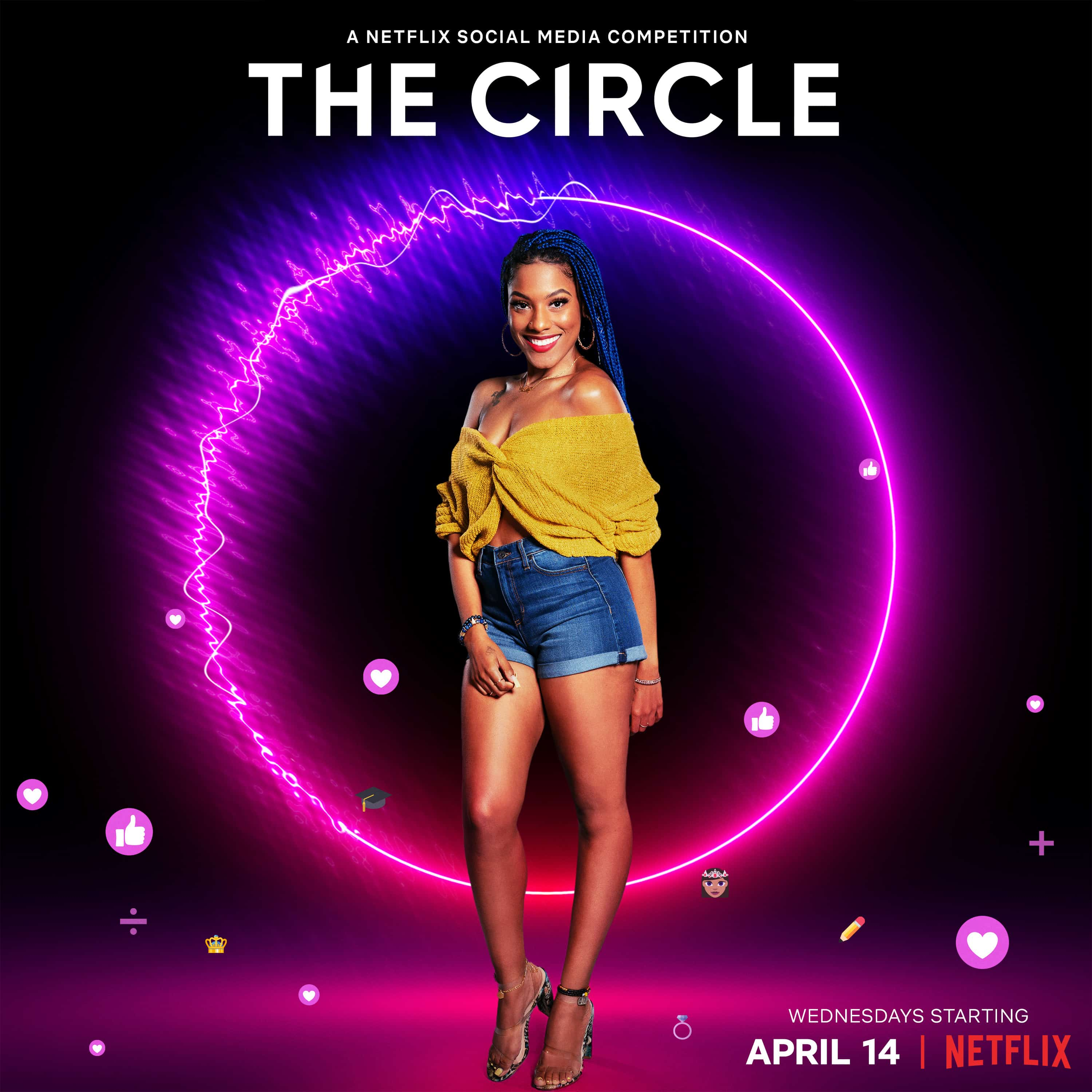 Terelisha in promotional material for The Circle Season 2