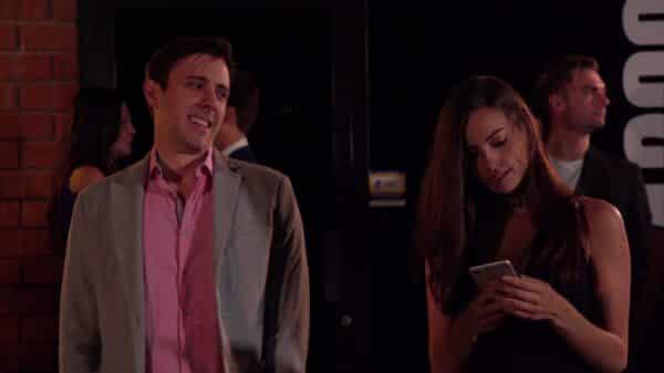 Jace (Trevor Sean) and Nicole outside a club.