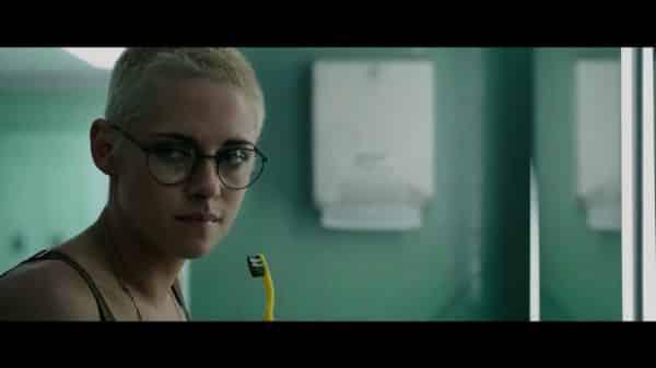 Norah (Kristen Stewart) brushing her teeth.