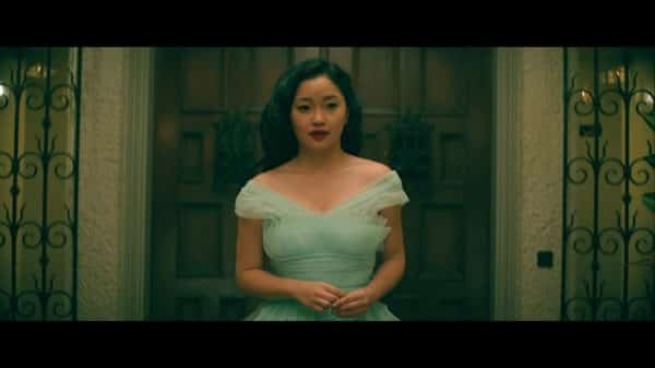 Lara Jean (Lana Condor) in a fancy dress.