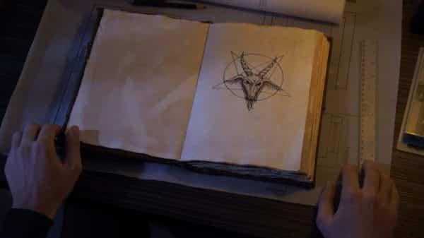 A demonic symbol in the Wicca book