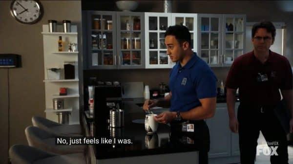 Jamal (Ashwin Gore) in the kitchen.