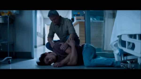 Jeremy (K.J. Apa) dealing with Melissa's death.