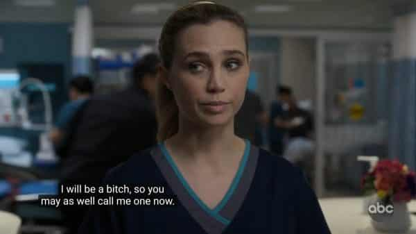 Morgan telling the nurses to get their dislike of her out of their system.