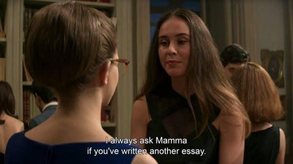 Nadia (Giogia Gargano) talking to Elena.