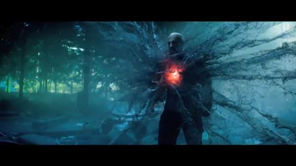 Ray (Vin Diesel) as he overclocks his system and is about to kill Dr. Emil.