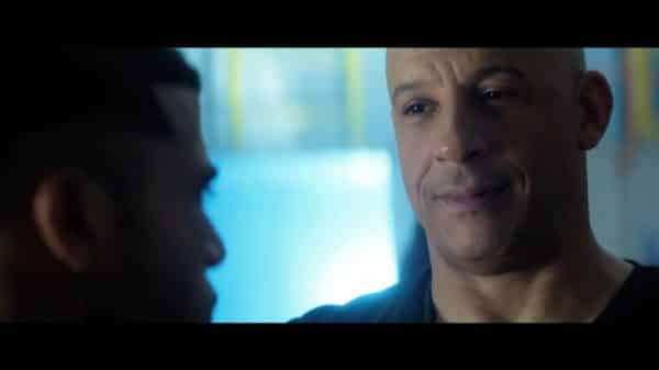 Ray (Vin Diesel) talking to another supersoldier.