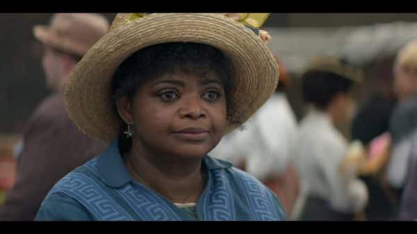 Sarah Breedlove aka Madam CJ Walker (Octavia Spencer) at the market.