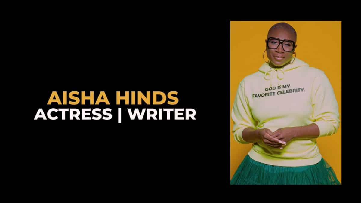 Aisha Hinds Title Card Behind Her Faith Season 1