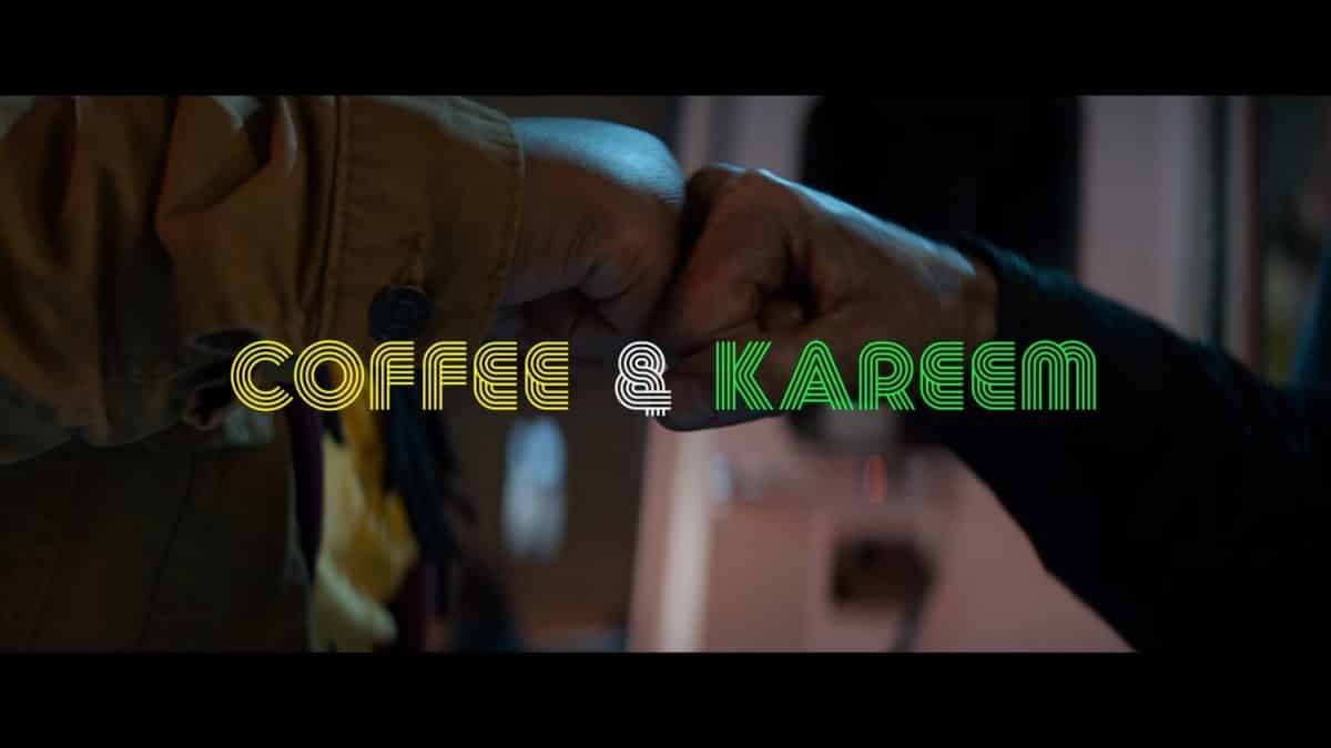 Alternate Title Card featuring James and Kareem doing a pound greeting.