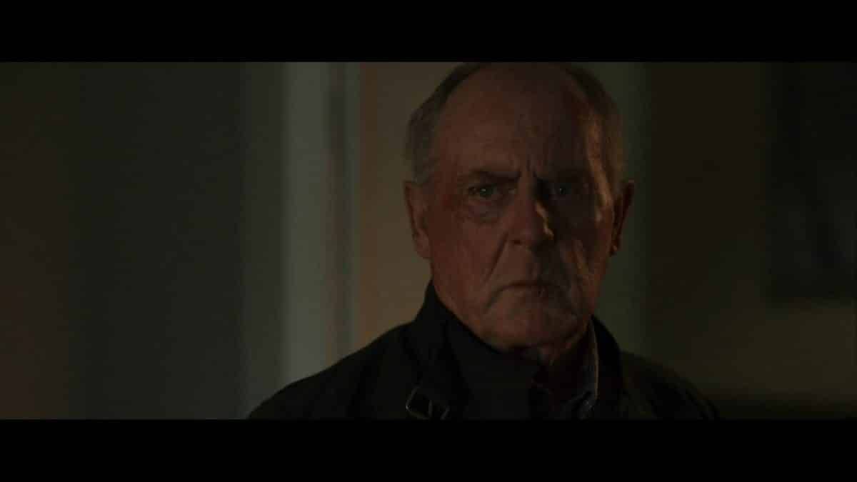 Detective Godfrey (Peter MacNeill) being confronted.