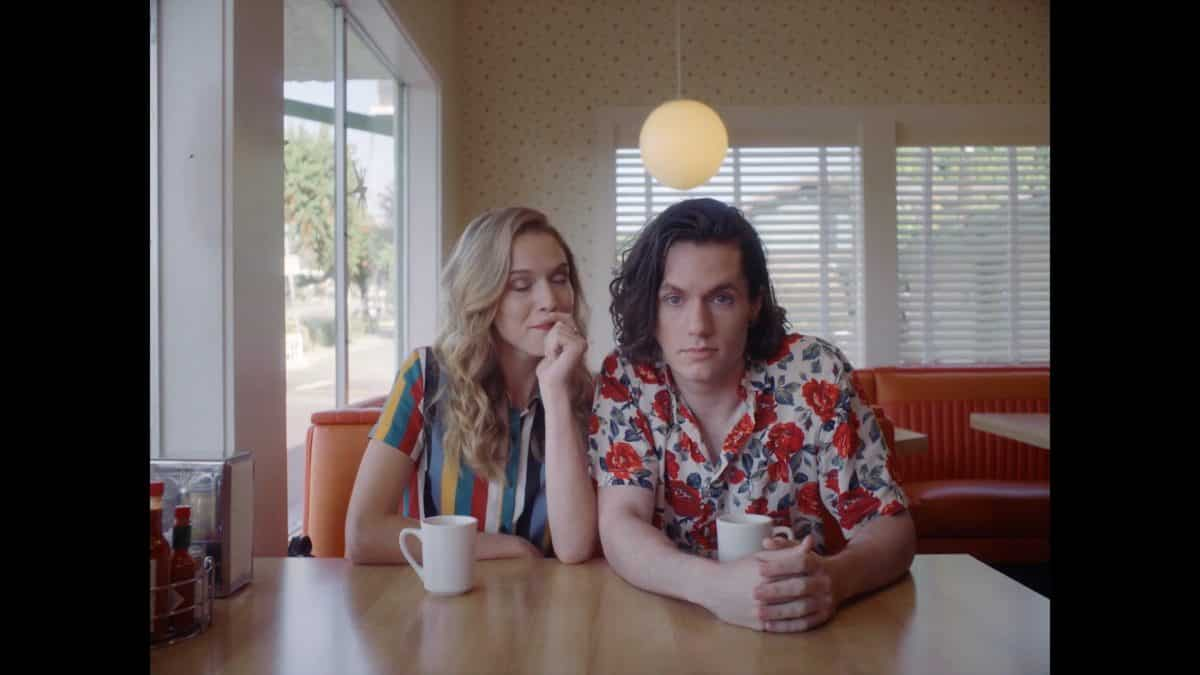 Meg (Dana Drori) and Ryder (James Scully) at a diner with Todd.