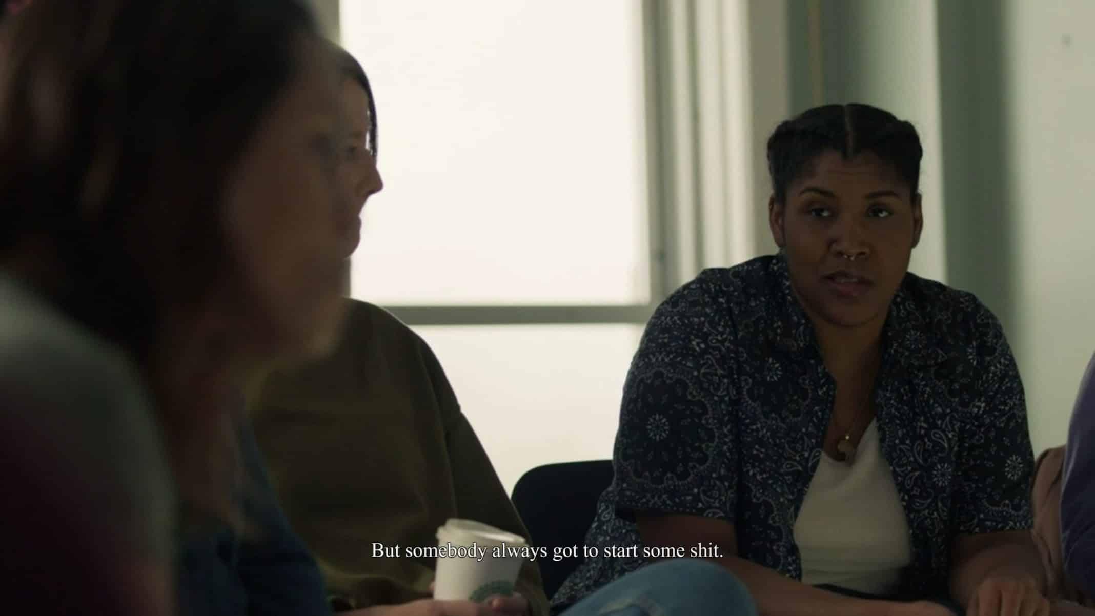 Bethany (Claudia Logan) in rehab.