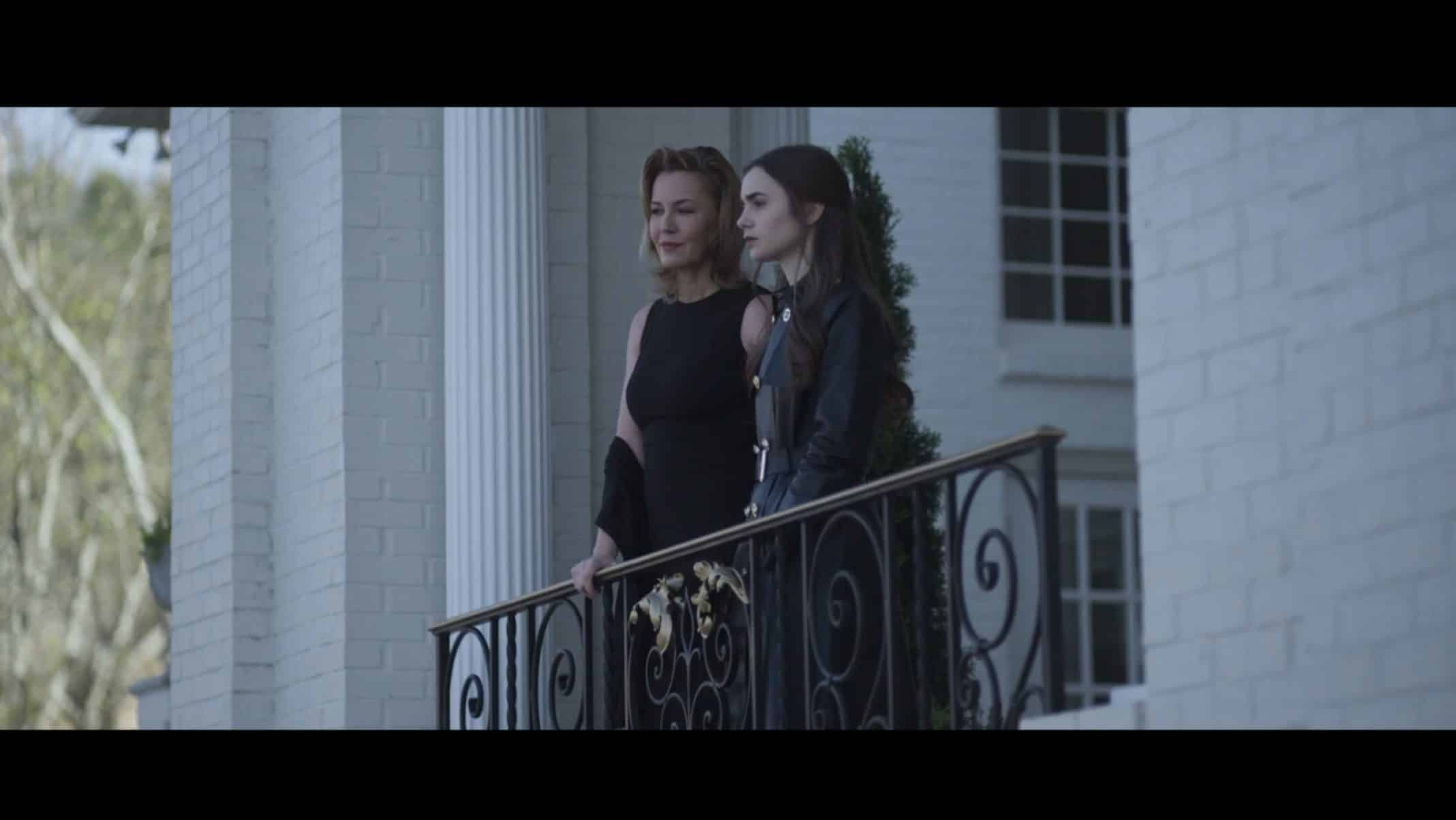Catherine (Connie Nielsen) and Lauren on the balcony of their summer home.