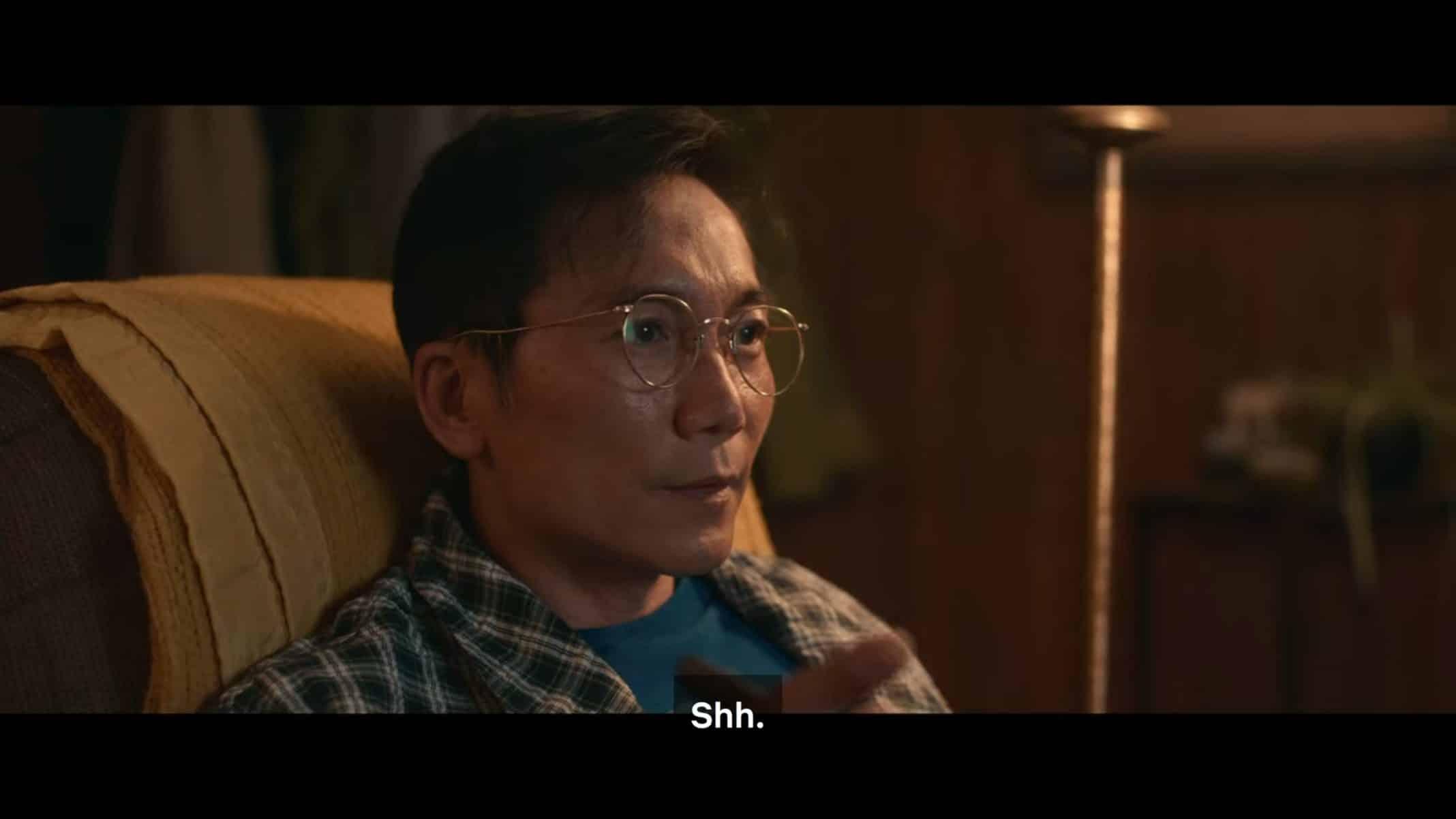 Edwin (Collin Chou) watching a movie.