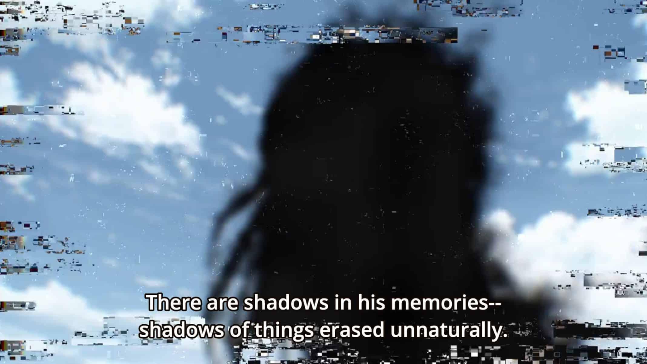 Yoshioka noting what she saw while in Shuichi's memories.