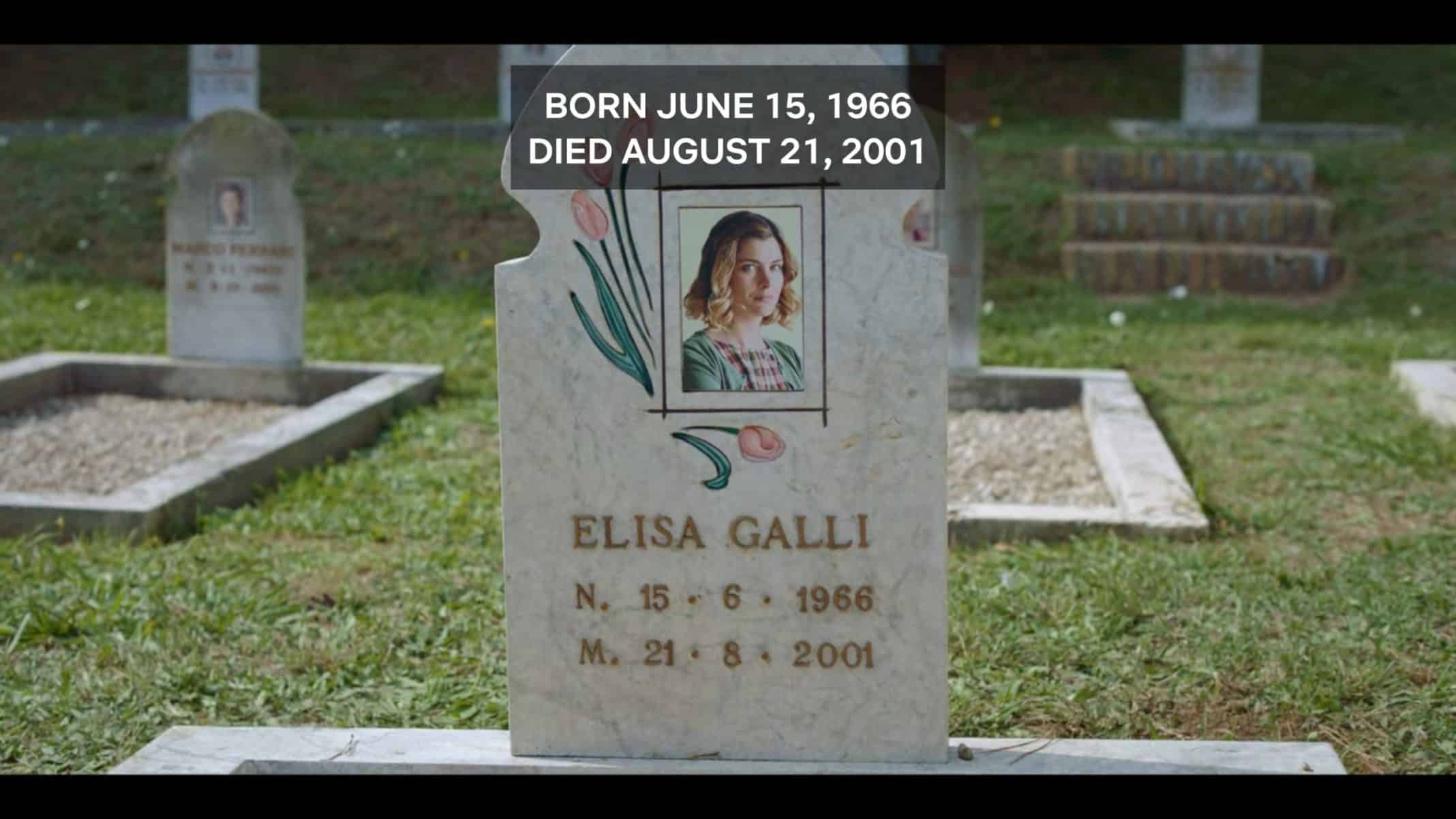 Elisa's headstone.