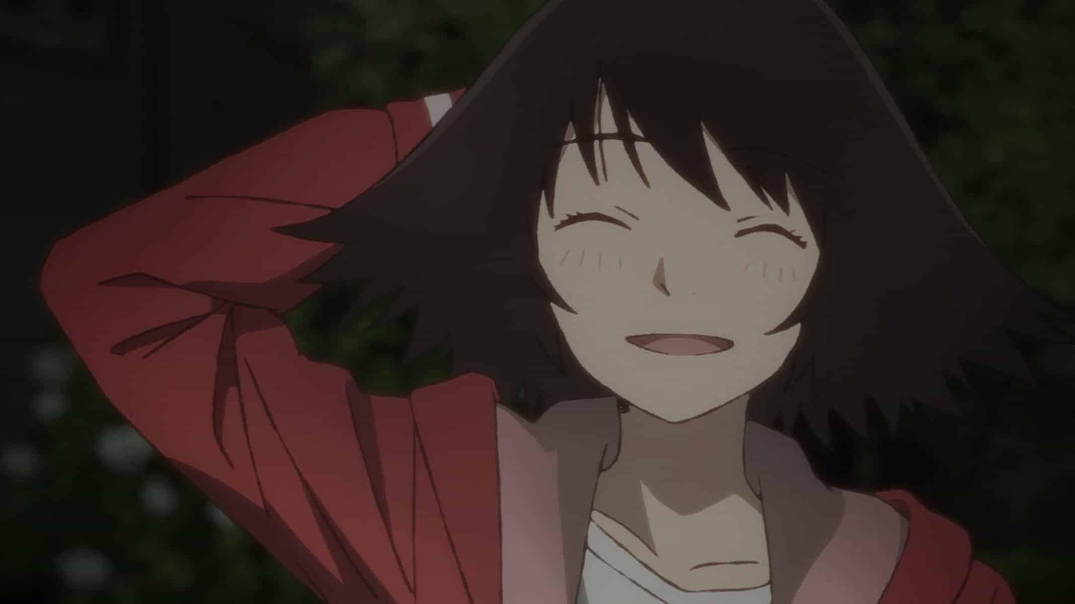 Haru trying to shrug off something Rikuo said.