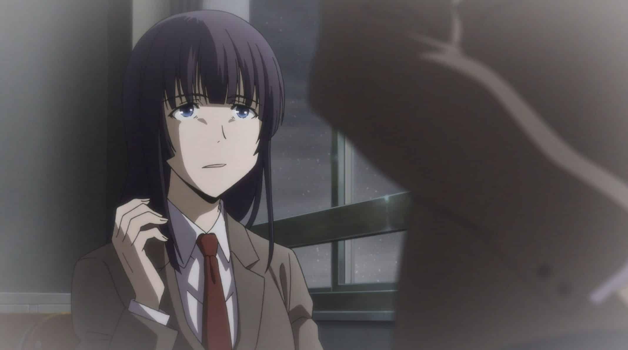 Koyanagi (Itou Shizuka) reacting to Elena's kindness.