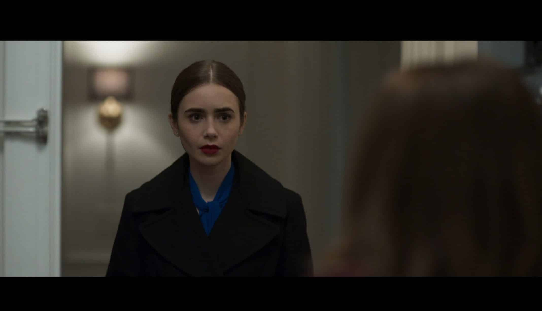 Lauren (Lily Collins) meeting her father's mistress.