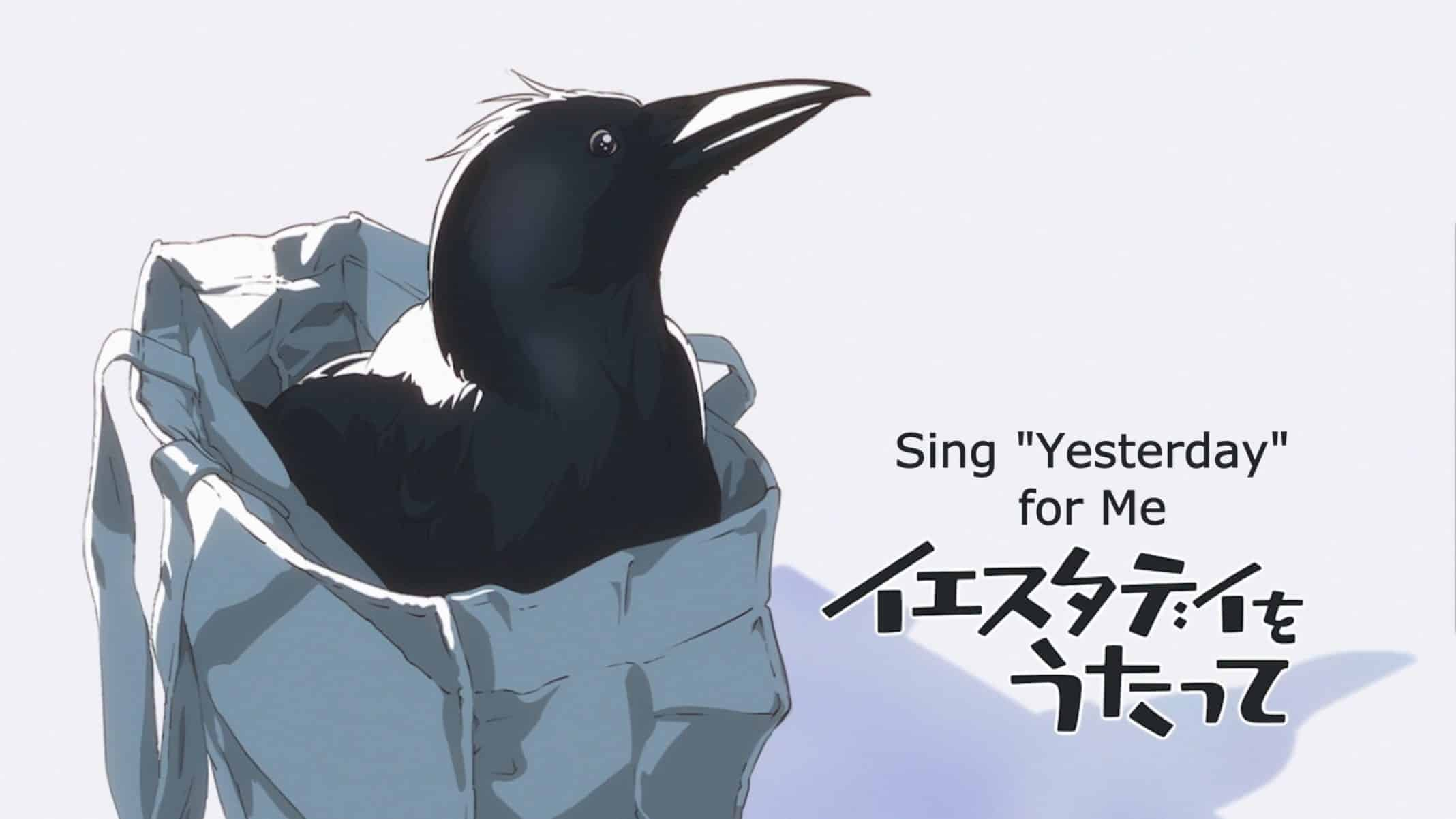 Mid Episode Title Card featuring Haru's pet crow.