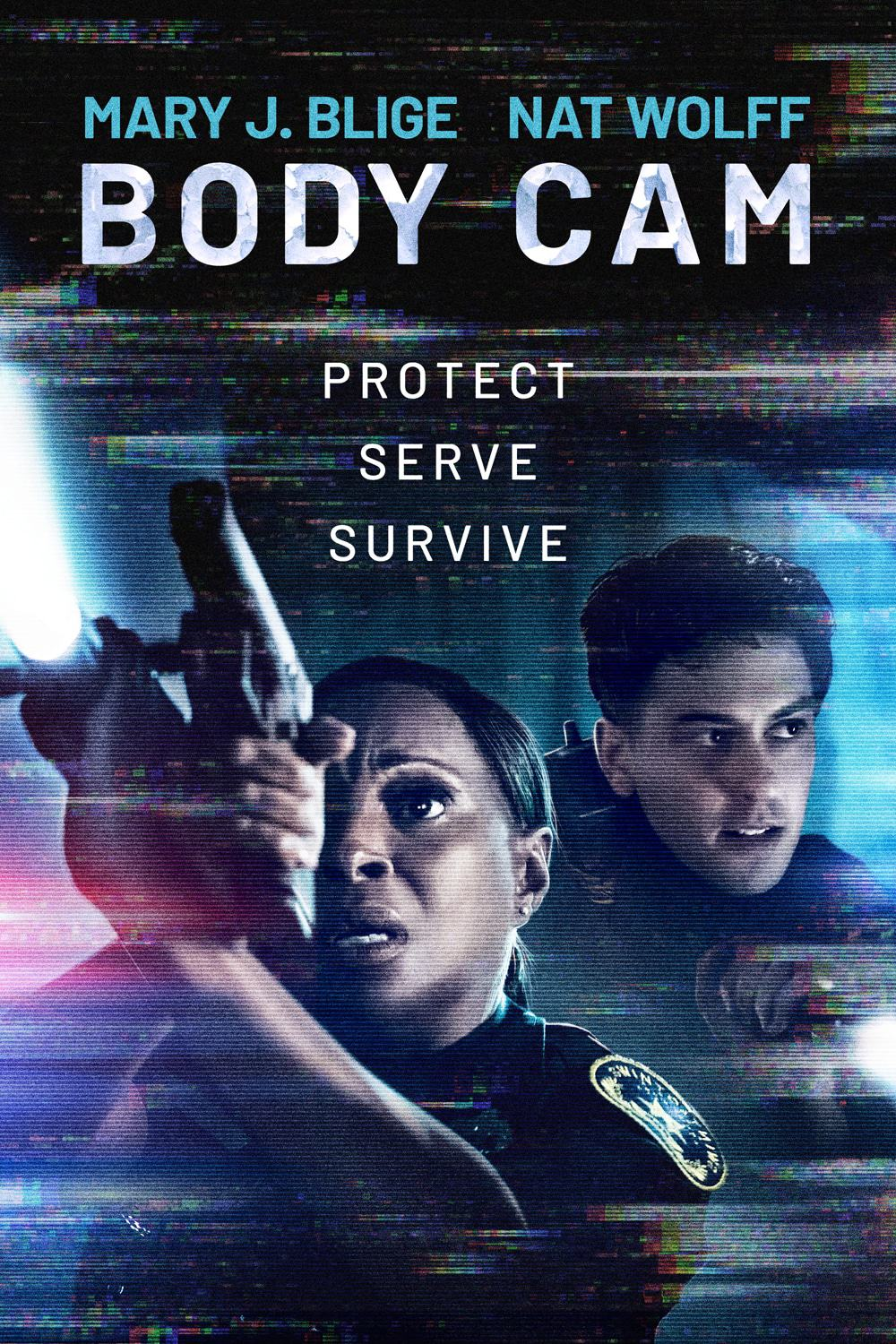 The Body Cam poster featuring Mary J. Blige and Nat Wolff