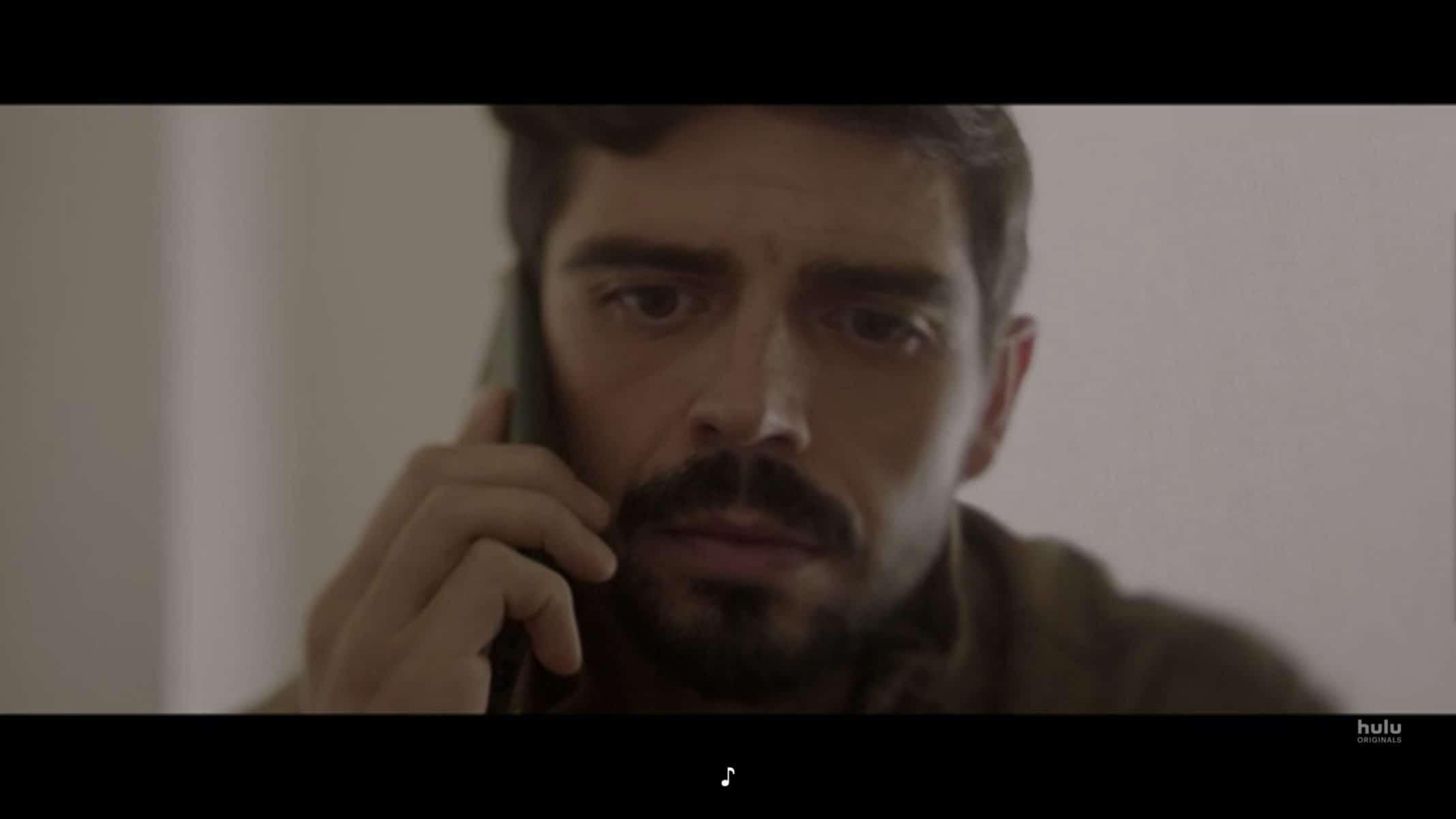 Riley (Micah Joe Parker) making a phone call.