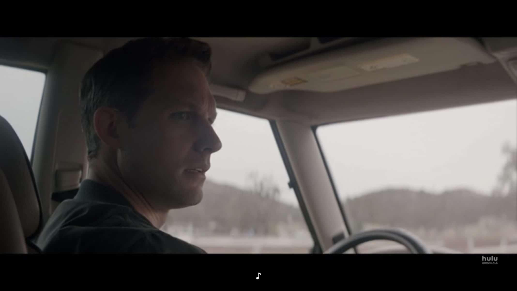 Tom (Michael Cassidy) driving Valerie to Jenny's dinner invitation.