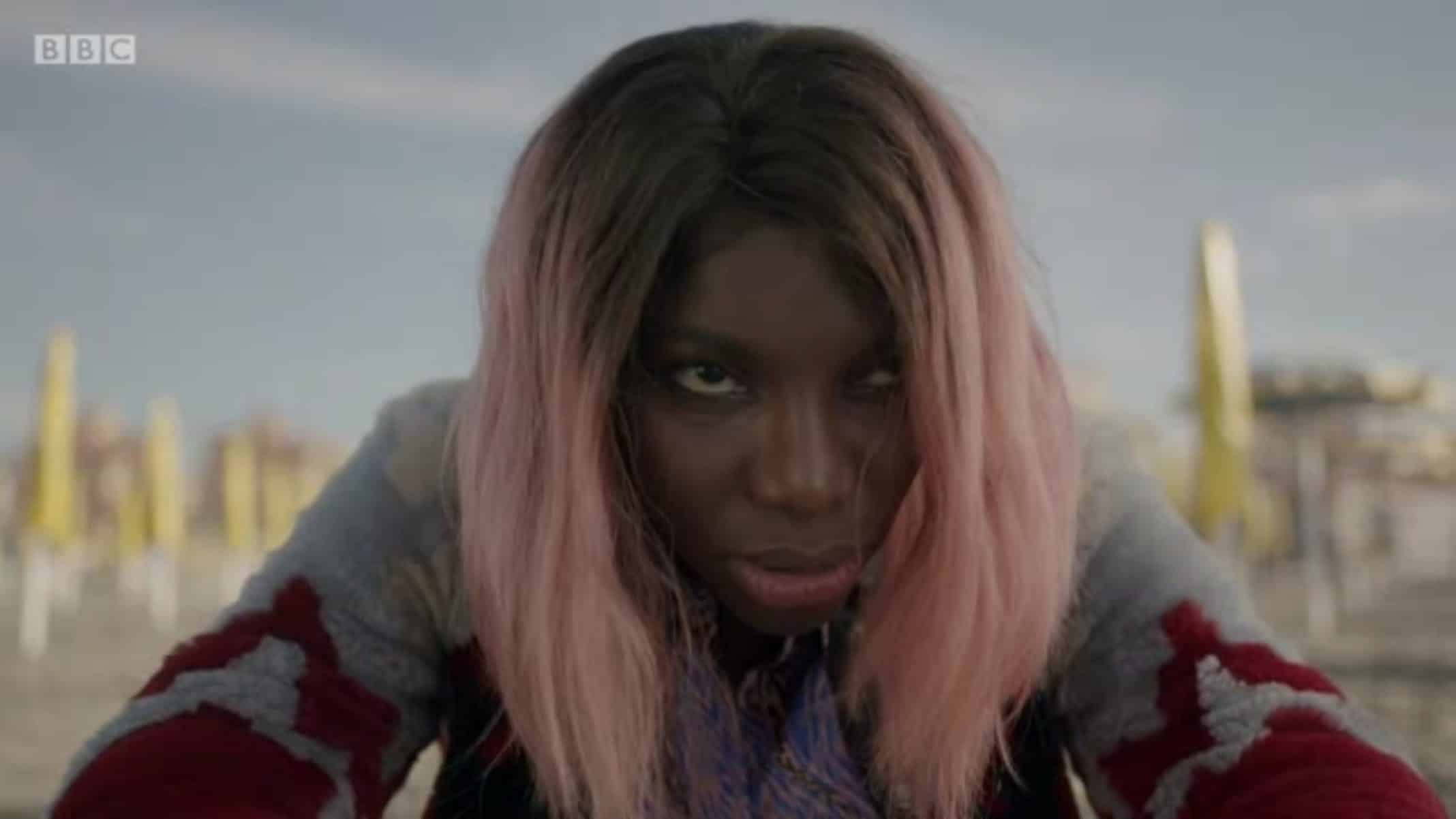 Arabella (Michaela Coel) on a beach, thinking about walking into the ocean - I May Destroy You