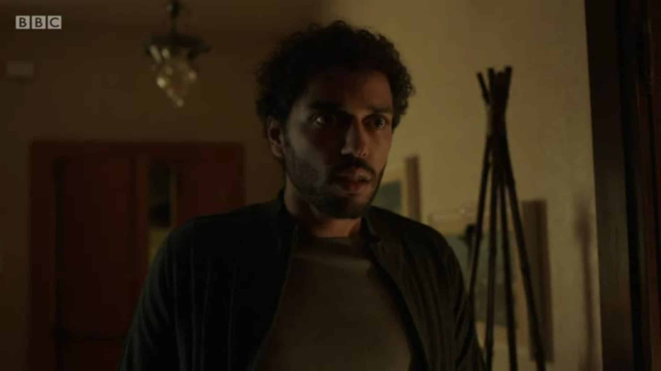 Biagio (Marouane Zotti) shocked to see Arabella - I May Destroy You