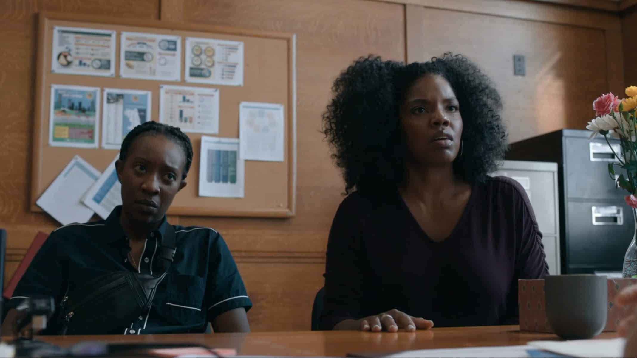 Dre (Miriam A. Hyman) and Nina (Tyla Abercrumbie) trying to figure out what happened to Kiesha | S3E2 The Chi